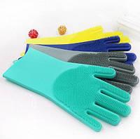 Перчатка-щетка для мытья посуды 908-24