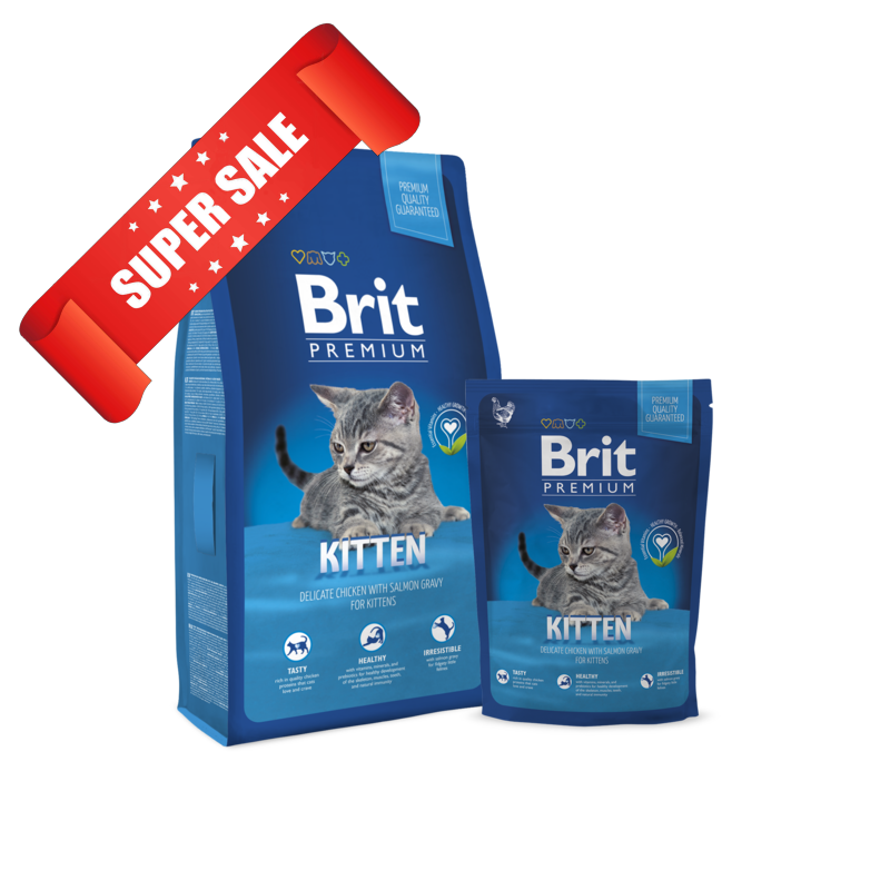 Сухой корм для котов Brit Premium Cat Kitten 1,5 кг