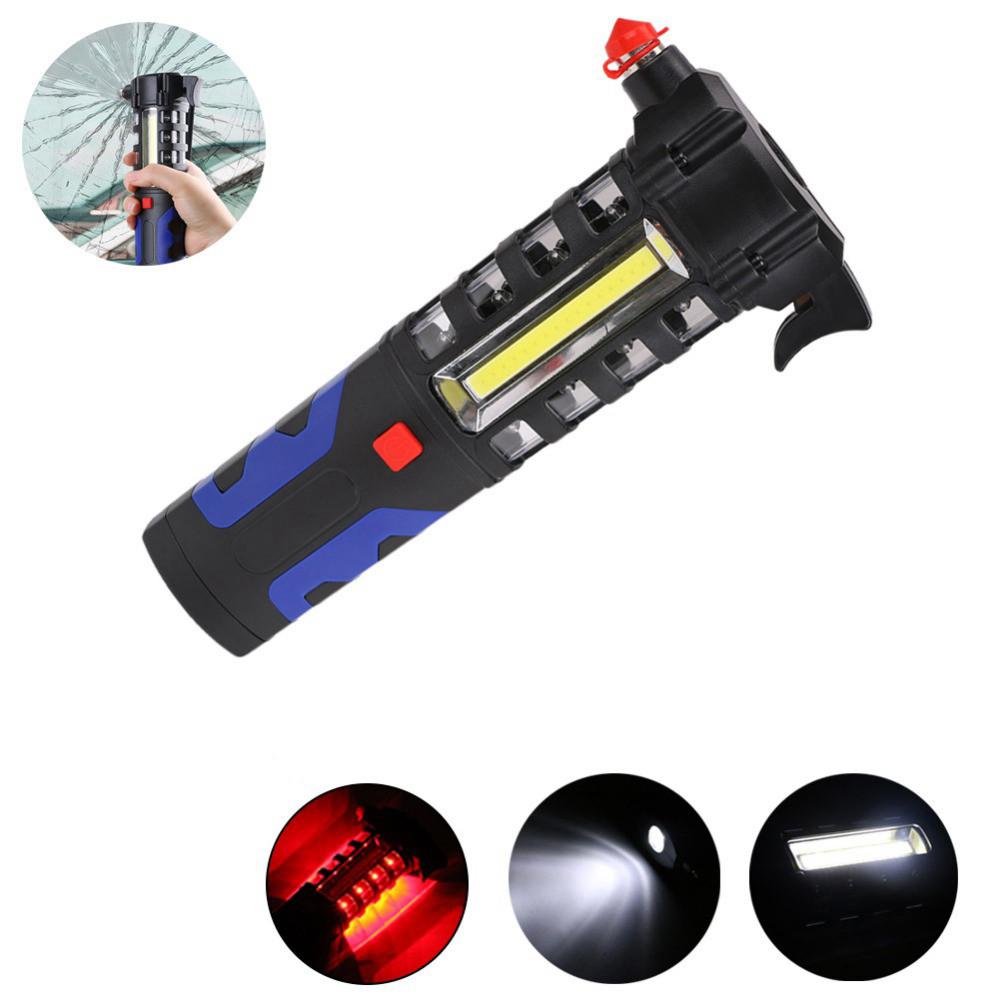 LUSTREON Магнитный COB LED Work Light Torch Безопасность Escape Rescue Window Breaker Emergency Hammer Инструмент - 1TopShop