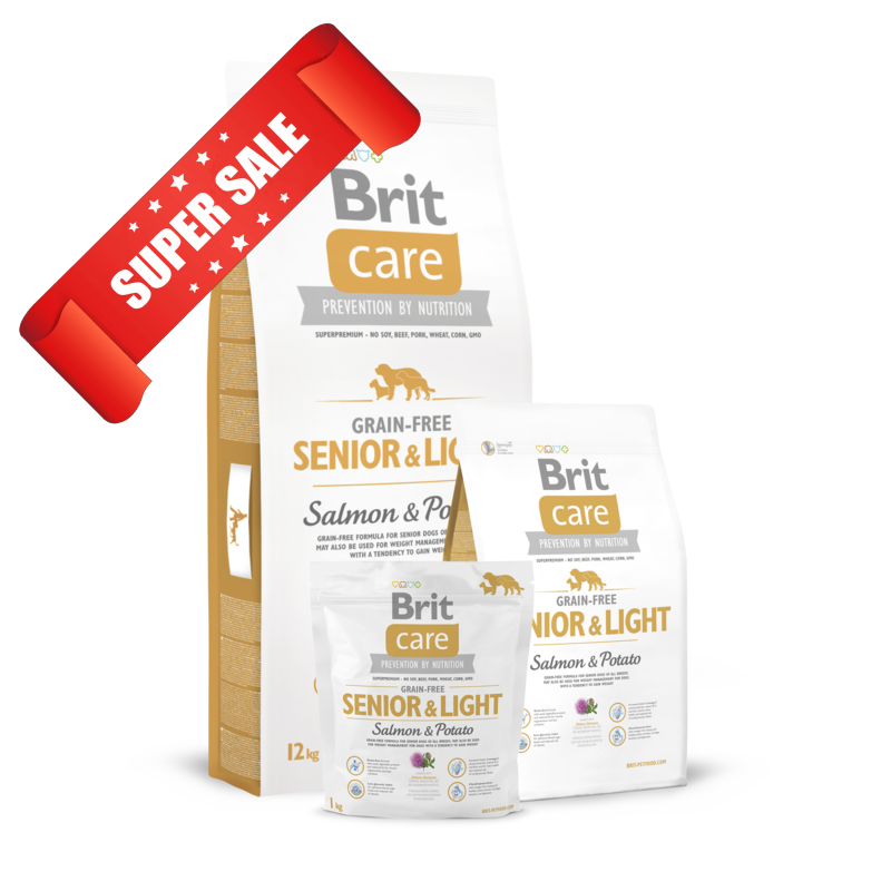 Сухой корм для собак Brit Care Grain-free Senior & Light Salmon & Potato 1 кг