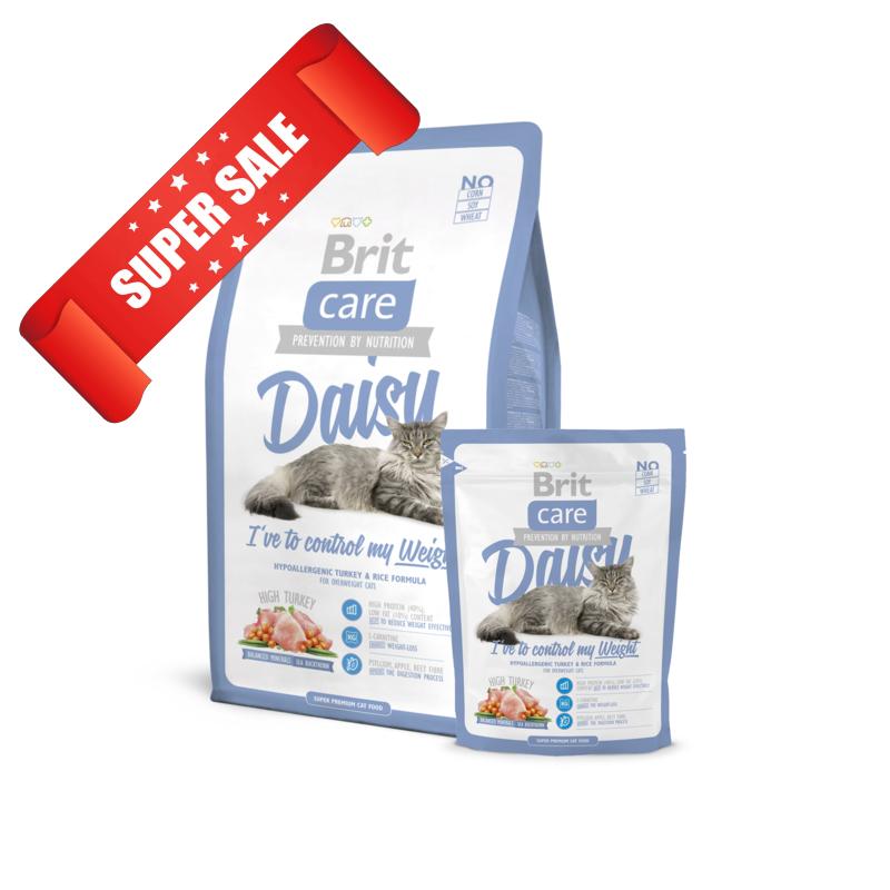 Сухой корм для котов Brit Care Cat Daisy I've to control my Weight 2 кг