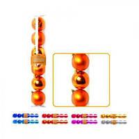 Елочные шарики Магічна- Новорічна GN031 пластик, 7см, в колбе 6шт, новогодние украшения, новогодние игрушки, елочные игрушки, новый год