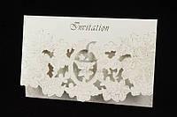 (Цена за 10шт) Открытка пригласительная, цвет белый, пригласительный на свадьбу, пригласительные на праздник