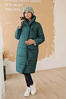 Зимняя куртка двухсторонняя для беременных To Be 3146274 темно-зеленая