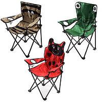 Кресло детское раскладное Зверята размер 37х37х66см, разные цвета, металл/полиэстер, стул, складная мебель, стул складной
