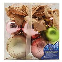 """Елочные игрушки Магічна - Новорічна """"Ball"""" пластик, разные цвета, новогодние украшения, новогодние игрушки, елочные игрушки, новый год"""