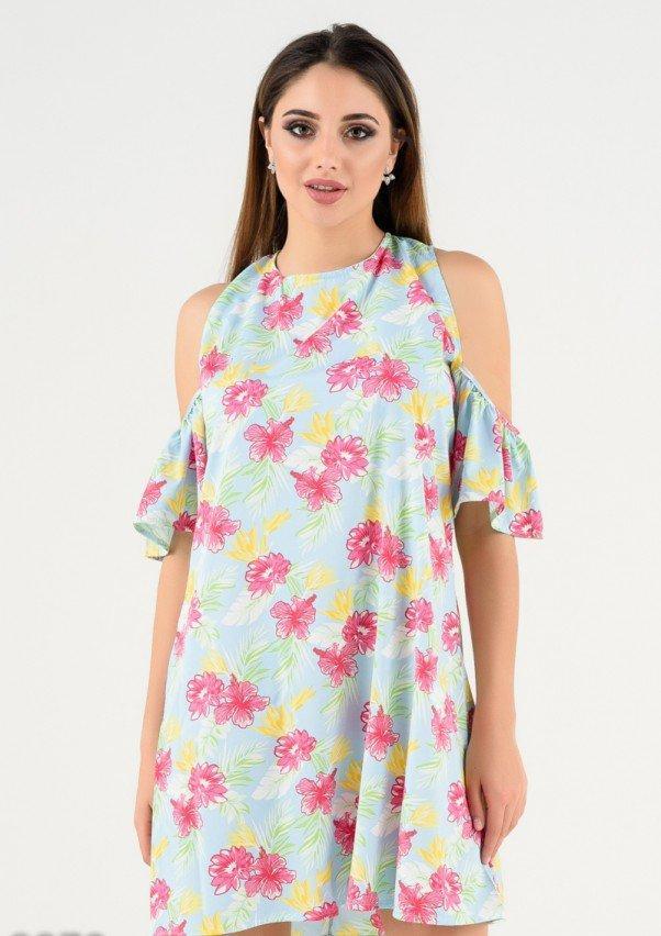 Платья  9879  L голубой