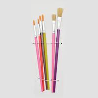 """Набор кистей для рисования """"Lily"""" в наборе 6шт, пластиковые, кисть, художественные кисти, кисточка, кисти для рисования"""