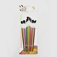 """Набор кистей для рисования """"Foxglove"""" в наборе 12шт, пластиковые, кисть, художественные кисти, кисточка, кисти для рисования"""