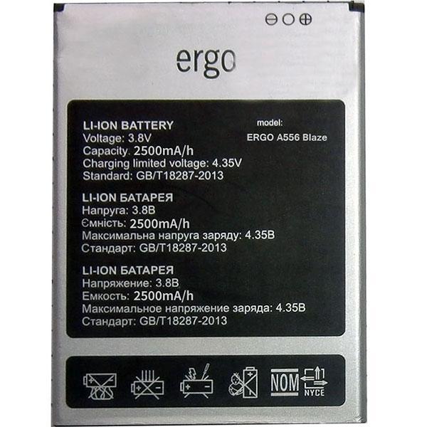 Аккумулятор акб ориг. к-во Ergo A556 Blaze, 2500mAh