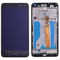 Дисплей (LCD) Huawei Y5 (2017) | Y5 III | MYA- L22 | MYA-U29 с тачскрином и рамкой, чёрный