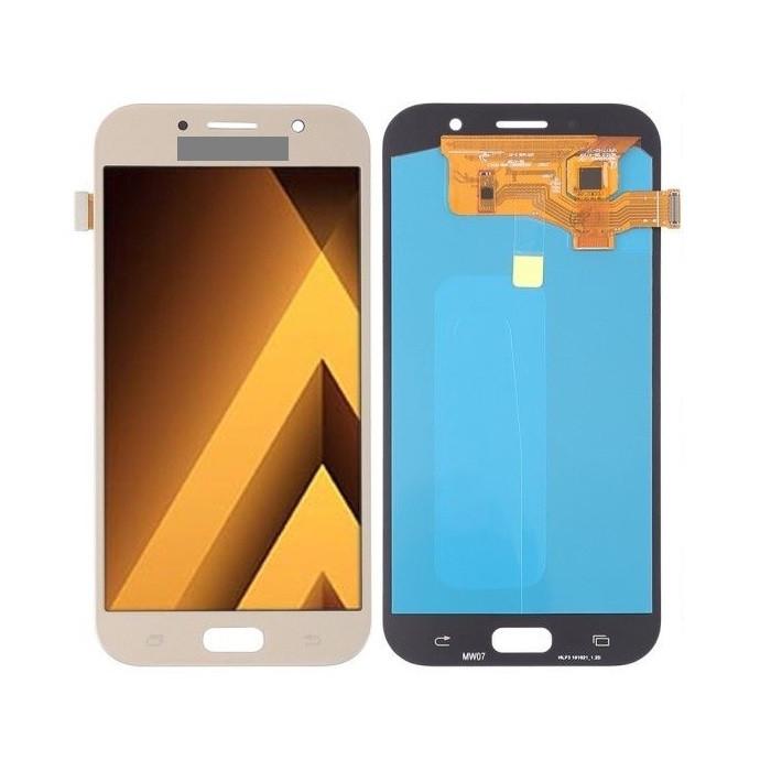 Дисплей для Samsung A720 Galaxy A7 (2017) OLED с тачскрином, золотистый
