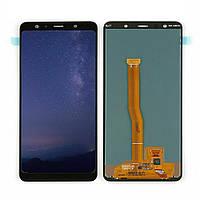 Дисплей (LCD) Samsung A750 Galaxy A7 (2018) OLED с тачскрином, черный