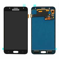 Дисплей (LCD) Samsung J720 Galaxy J7 Duo (2018) OLED с тачскрином, чёрный