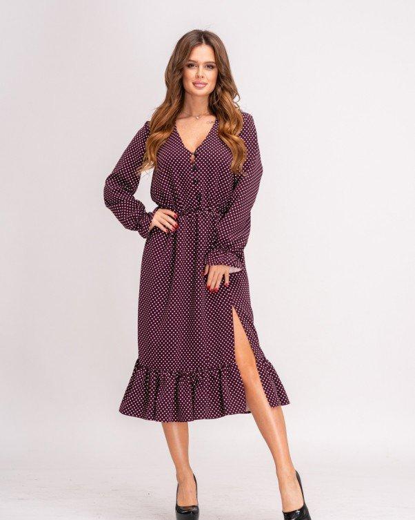 Платья  11139  L бордовый XL