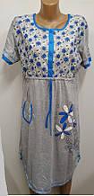 Нічна сорочка для вагітних і для годування жіноча арт 119 розміри XL-5XL кольору.