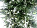 Елка искусственная ПВХ 200 см с белыми кончиками веточки, фото 3