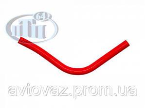 Патрубок расширительного бачка ВАЗ 2170, 2171, 2172 Приора, силикон красный