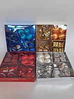 Новогодние игрушки на елку Набор Рождественский 4в1 серебряный