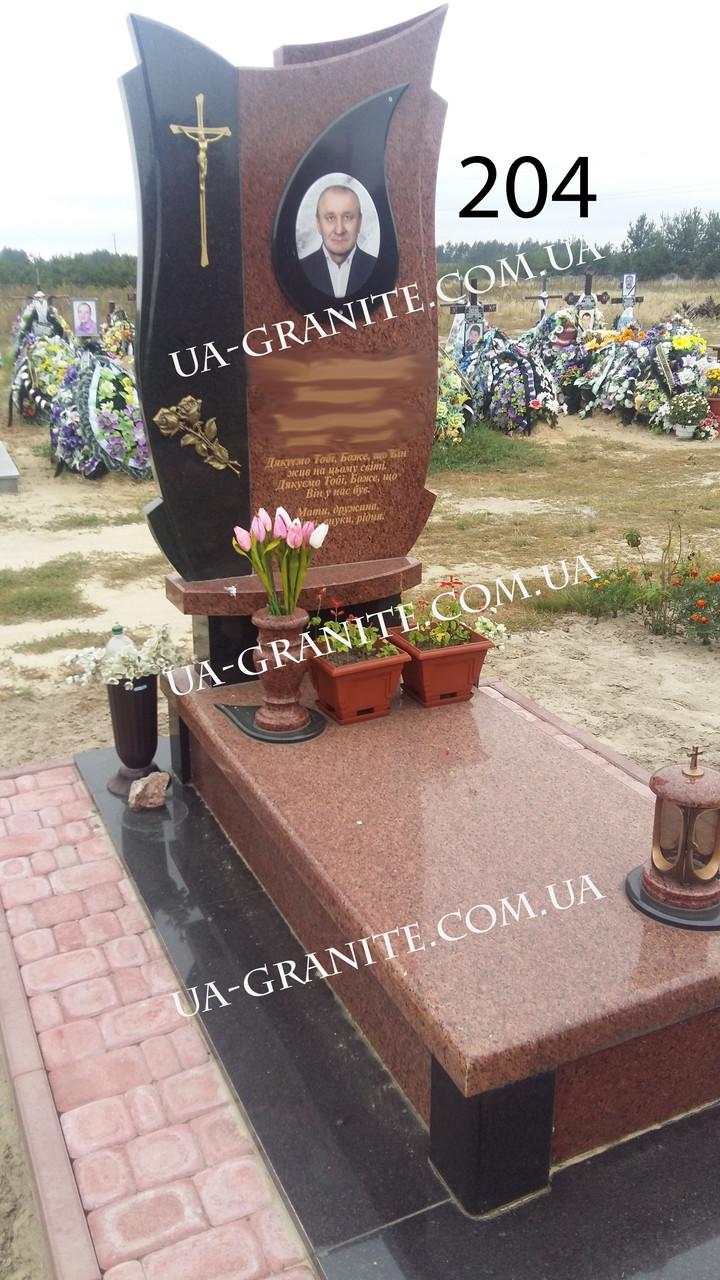 Пам'ятник кераміка із хрестом на могилу