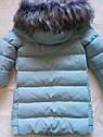 """Зимнее пальто """"Полианна"""" Nui Very c накладными меховыми карманами Размеры 122 128 134, фото 5"""