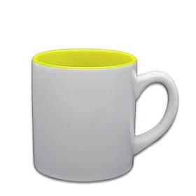 Чашка для сублимации цветная внутри 150 мл (желтый)