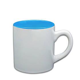 Чашка для сублимации цветная внутри 150 мл (голубой)