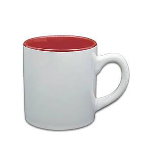 Чашка для сублимации цветная внутри 150 мл (бордовый)