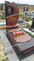 Пам'ятник комбінований на могилу із граніту лізник