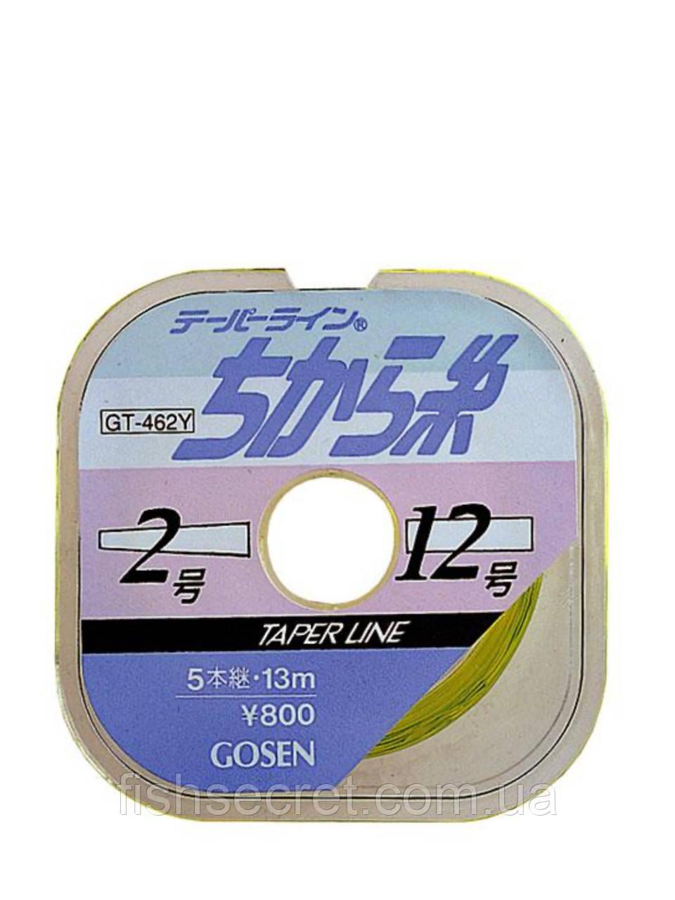Шок лидер Gosen Taper Line GT-462N 15м*5шт