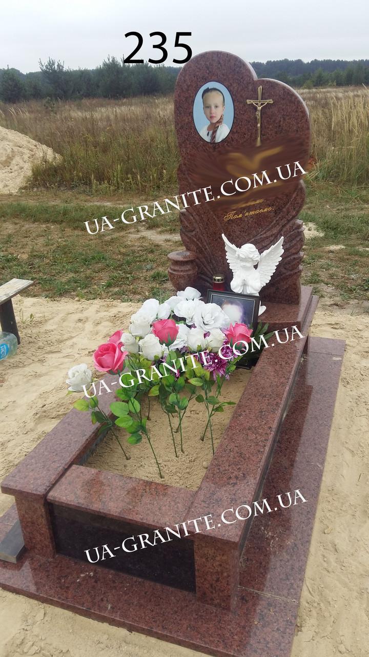 Пам'ятник комплекс кераміка із граніту на могилу