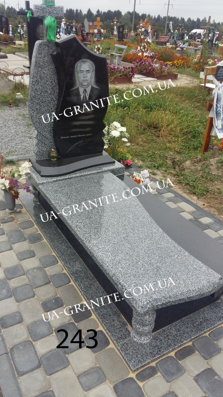 Пам'ятник для тата квітник із граніту