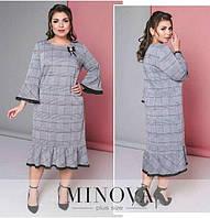 Женское батальное платье Минова с итальянским кружевом 54,56,58