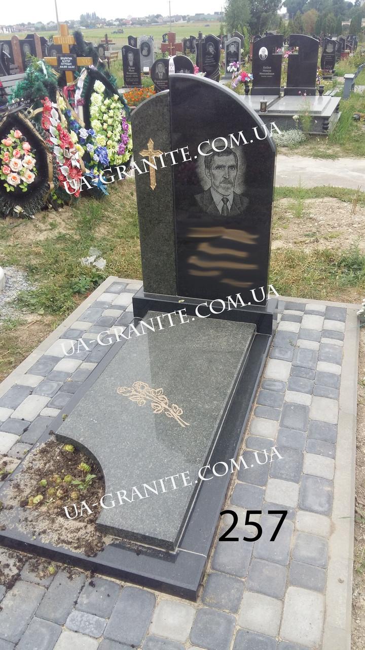 Комплекс пам'ятник із зеленого граніту