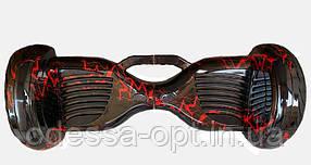 """Гироборд 11"""" №8 Цвет  Молния красная  BT + APP + Автобаланс с АКБ Samsung"""