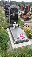 Комплекс на могилу пам'ятник із сірого граніту