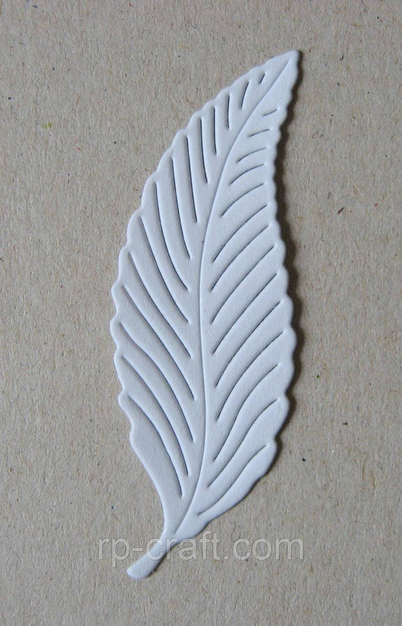 Вирубка з паперу та картону. Листочок, 20х60 мм