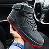Зимние мужские кроссовки Nike Air Force 1 High серые с мехом 40-45р. Реальное фото. Реплика