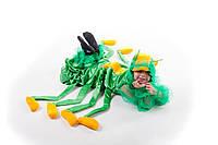 Детский карнавальный костюм для мальчика «Сороконожка» 115-125 см, зеленый