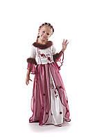 Детский карнавальный костюм для девочки «Джульетта» 120-130 см, бело-бордовый