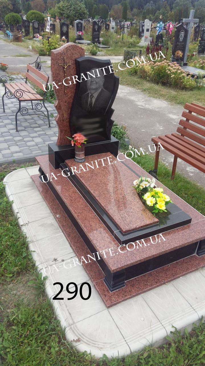 Надмогильний пам'ятник із граніту для батька