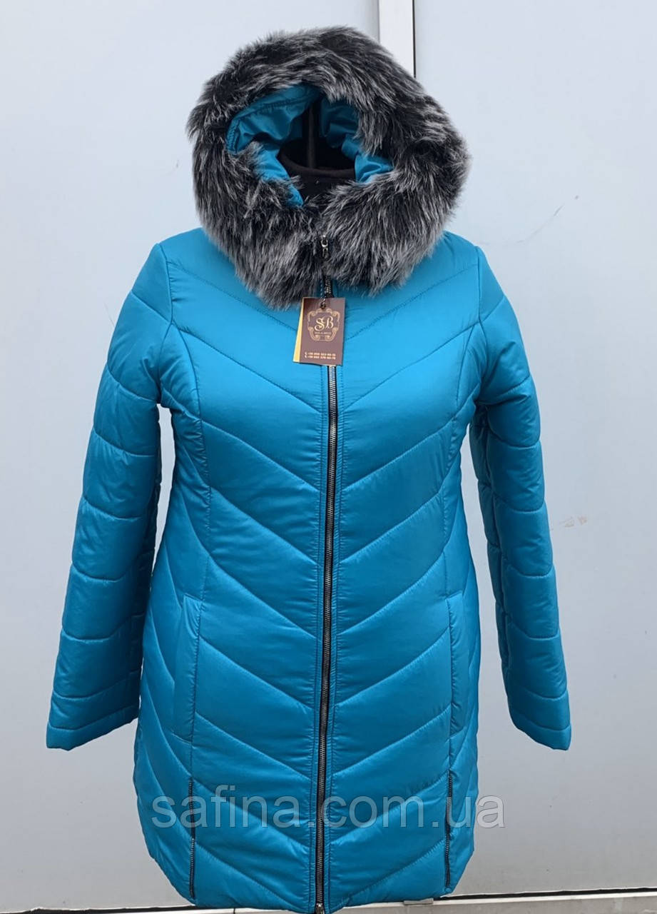Молодежная зимняя куртка батал
