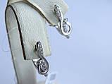 Серьги серебряные Скрипичный ключик, фото 4