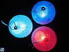 Новогодняя игрушка, светодиодная, Разноцветная, 3шара/уп., фото 2