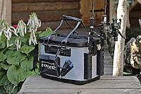 Сумка спиннингиста FanFish MS-40 Gray со съемным лотком и держателями для спиннинга