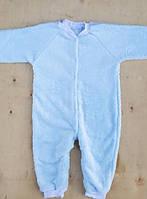 Человечек вельсофт, размер 2-3 года, на молнии, однотонный , голубой