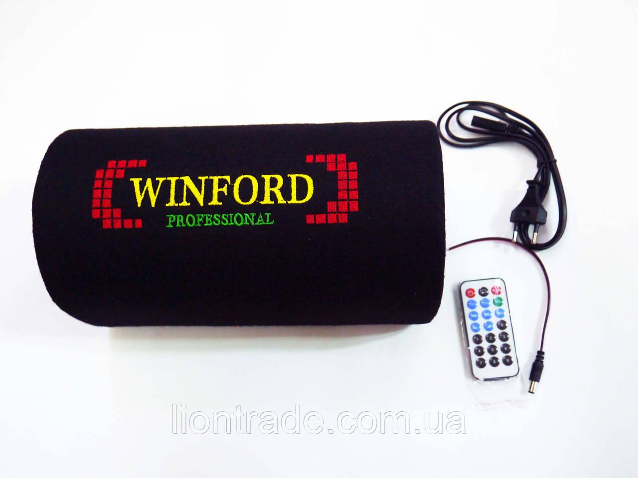 "5"" Активный сабвуфер бочка Winford 150W + Bluetooth"