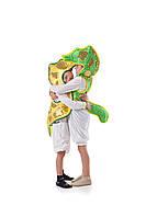 Детский карнавальный костюм для детей «Морской конек» 110-120 см, зеленый и желтый, фото 1