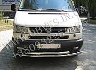Защита переднего бампера VW Transporter T4 (двойной ус Т4, 60+42мм)