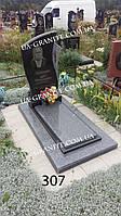 Памятники на могилу із сірого граніту